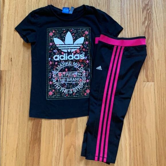 Girls adidas Shirt Pants Bundle